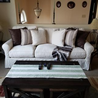 I love my new Sofa. Fits perfectly in my home.
