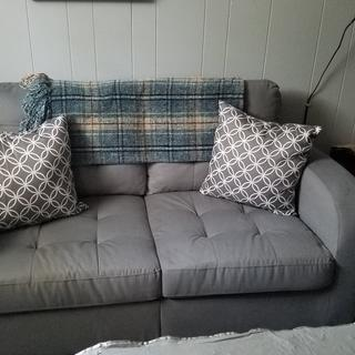 Love this perfect sized seating for a small game room, very comfy and the color is a great!!
