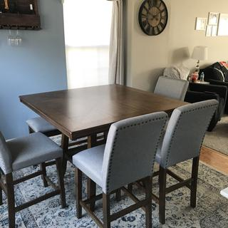 Love the table! Looks great in our space and overall great quality piece of furniture!
