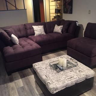 Love my new sofa!!! Very comfortable to watch movies on...