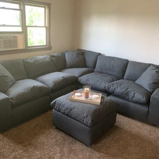 Super comfortable and perfect for entertaining or a late night movie. Very durable also.