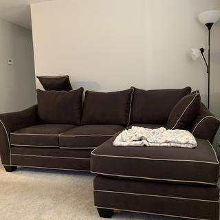 So comfortable, fits amazing in the space! I've had many compliments on it! Mine is the slate grey!