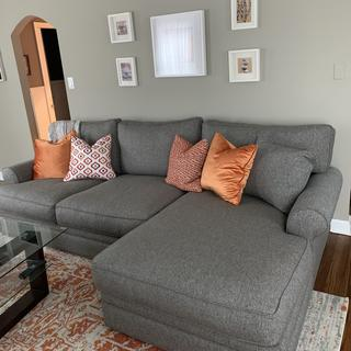 2-piece sectional with my pillows