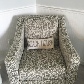 Love this chair! So comfortable and swivels too. Perfect for our new beach home.