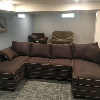 Foresthill 3 Pc Microfiber Sectional Sofa Suede So Soft