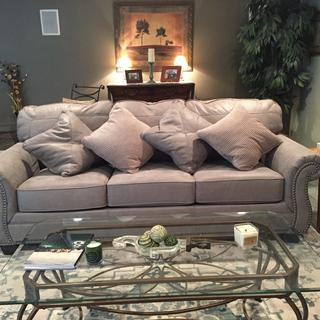 Sofa is a hit in its new space. Love the look