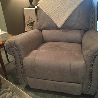 Matching rocker recliner sits nicely next to sofa