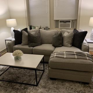 Absolutely love this sectional. It's perfect for my small apartment. Very comfortable and stylish.