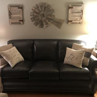 I LOVE this couch/sofa!  It goes so well with my decor, is VERY comfortable!