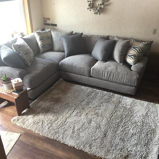 This sectional swallows you up. It is so comfortable.