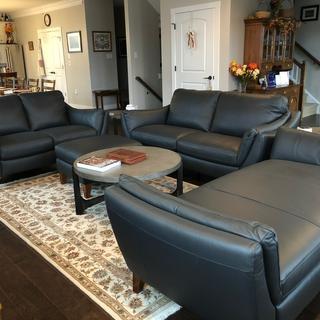 Greccio Leather Sofa Granite