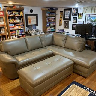Great couch for a smaller 'man cave'.