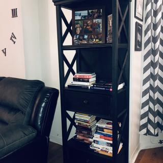 I just love it  Plenty spaces to organize lot of books and have 2 drawers for more extra space
