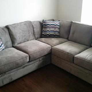 Great microfiber sectional. Well made and expandable with extra sections!