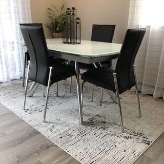 What a great table and chairs.  Very happy with our purchase!