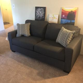 Sofa in small apartment living room