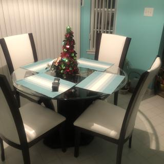 We love our new dinette set. It was made for our breakfast nook.