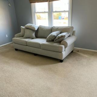 I love my new couch. Looks great with my new gray walls. I love they deliver was nice and easy.
