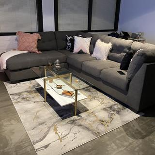Love this sectional! Very spacious, comfortable and can be styled in many ways.