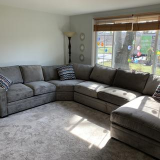 We love our Artemis II 4-pc couch. It's fits the room perfectly and has plenty of room for my family