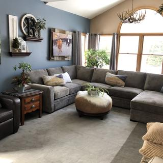 The service, delivery and color was perfect! Loving our new sectional!