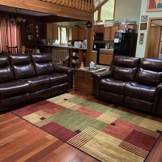 Looks like a masterpiece living room with quality and comfort.