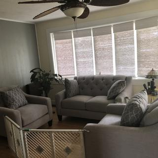This furniture is so comfortable and looks great in my house. We love how it looks and feels!