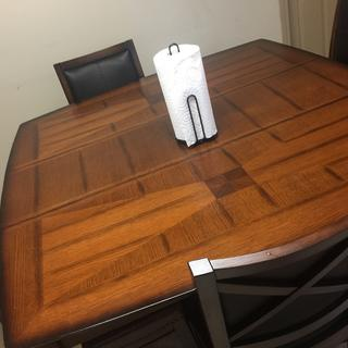 This table set is BEAUTIFUL!!! It looks better in my home than In the showroom! I love my purchase!