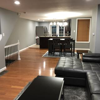 Entryway view. love the size, color, and comfort. It's an amazing sofa and will recommend to others.