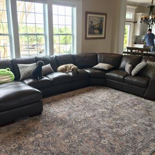 In love with our new sectional! We added a 5th piece to better use our space.