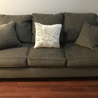 This sofa is beautiful AND comfortable! My family of 4 can all fit on it at once & we are loving it!