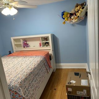 My daughter is in love with her bedroom set. She does not want to leave.