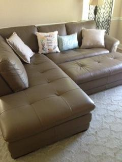 Enjoying our new Garrison sectional and ottoman!