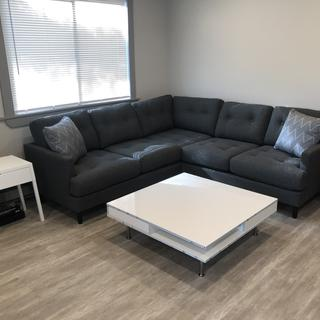 Love the clean look. Perfect size for my living room and looks good with my coffee table
