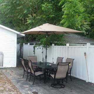 I just love my new patio set.