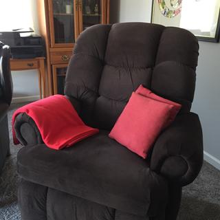 Our new chair is so comfortable. We love it! Even though it is big, it is great.