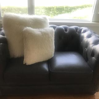 Love our new leather Hutchinson love seat