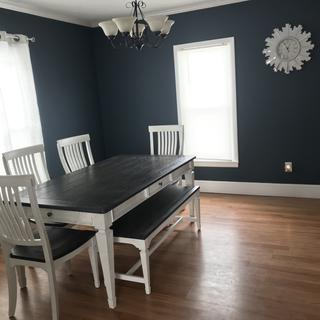 New home owners so have very little on the walls but feel the table was a PERFECT addition!