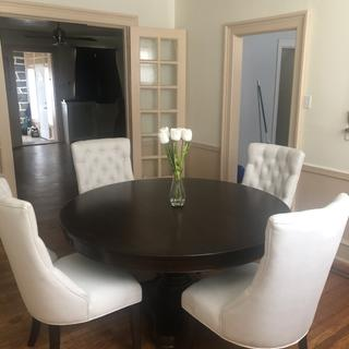 I love the Fallon dinning set. It's so elegant and the perfect size for my dinning room.