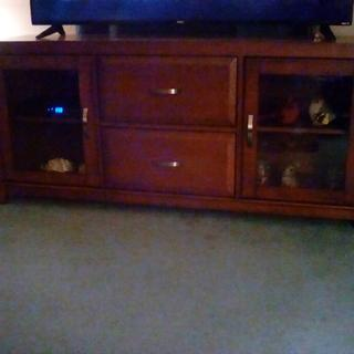 """Nice TV Stand we are enjoying our new 58"""" TV on it . Thank you, Raymour& Flanigan"""