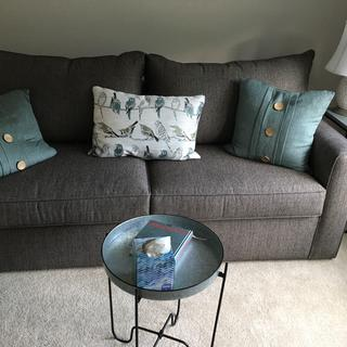 We enjoy our new sofa bed from Raymoor and Flanigan. Perfect size and very comfortable.
