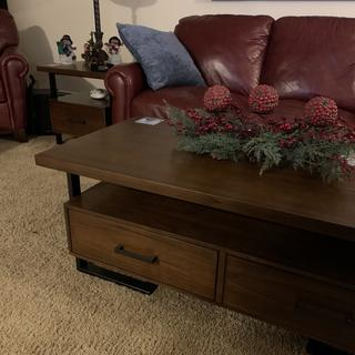 I love these tables. They are a really nice quality and look sharp. Drawers for all the remotes