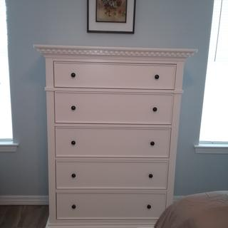 Detail adds nice look to this dresser.