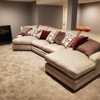 We LOVEeeeeeeeeeeee this sofa. So perfectly oversized and comfy. Very high quality!!!!