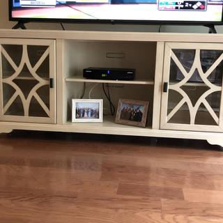 "This product was perfect for the space and size of tv (65"") just as it looked in the picture online."