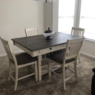 We love our new dining room set. It's perfect in our new home. Thank you.