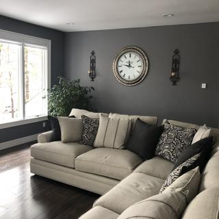 Sectional, the clock to the accent chairs, beautiful set!