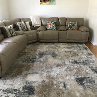 Pictures don't do justice! This rug is high quality. It does not shed and is easy to clean!  ??
