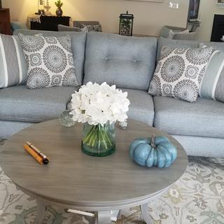 I love this sofa!  Perfect color and style.