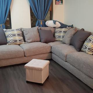 Such a comfy and beautiful couch! We are so pleased.